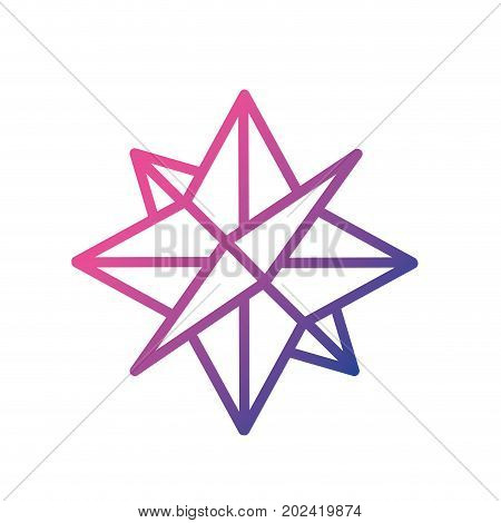 line compass symbol to geography adventure direction vector illustration