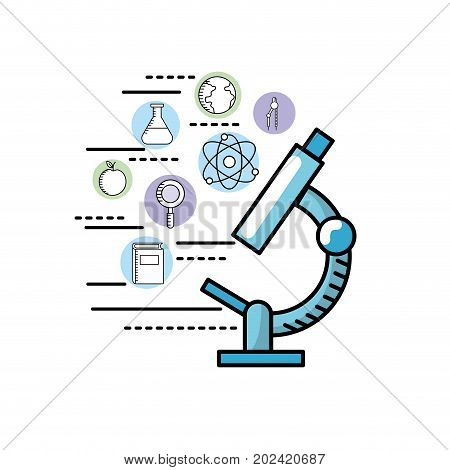 school knowledge utensils to education learn vector illustration
