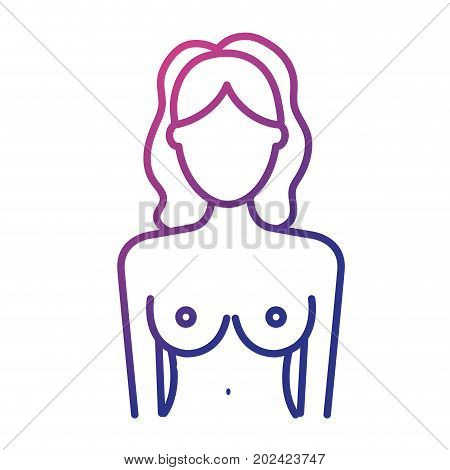 line breast cancer prevention to medical treatment vector illustration