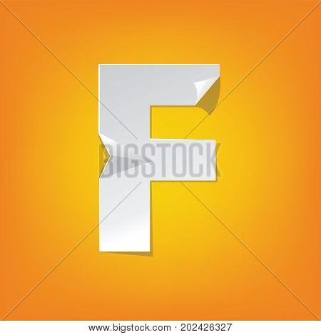 F Capital Letter Fold English Alphabet New Design