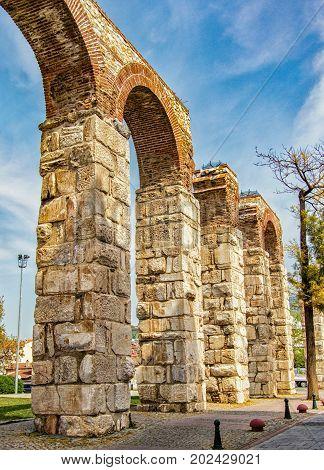 Selcuk Roman Aquaduct In Turkey