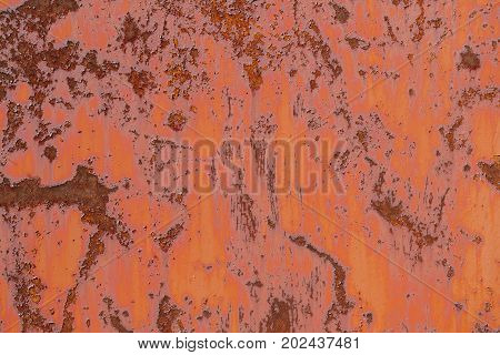 Abstract corroded colorful rusty metal background. Object photo.