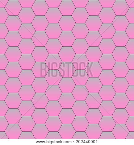 Pink Abstract Hexagon Texture. Hexagon pattern background. Modern design. Vector illustration