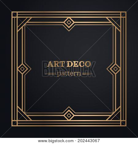 frame art deco background hand draw pattern