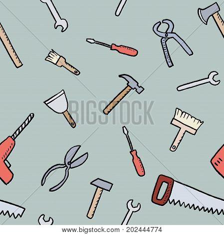 Cartoon Tools Background