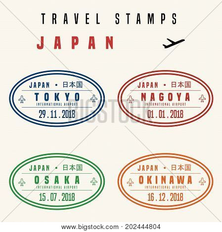 Japan Travel Stamps