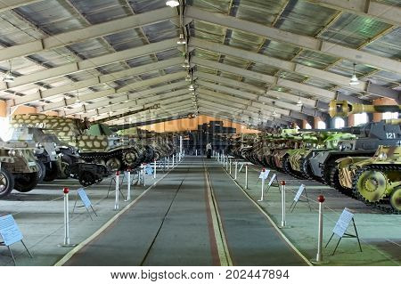 MOSCOW REGION RUSSIA - JULY 30 2006: German tanks of World War II the Tank Museum Kubinka near Moscow