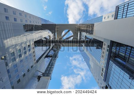 Umeda Sky Building With Beautiful Sky And Clouds.
