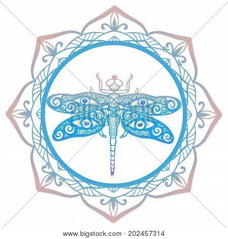 Crescent Lotus Dragonfly Sketch_14.eps
