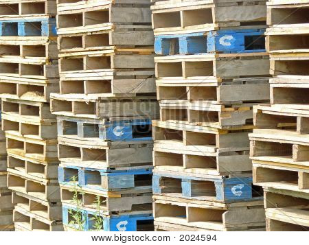 Stack Of Colorful Crates
