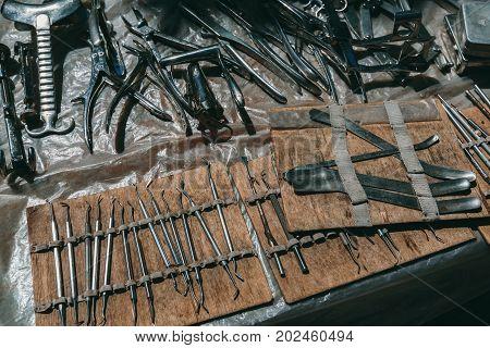 Old Surgical Instruments Flea market Vernissage Yerevan, Armenia