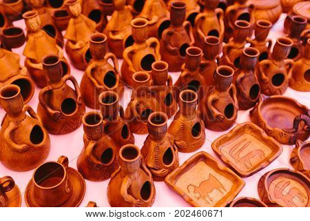 Clay vessels Flea market Vernissage Yerevan, Armenia