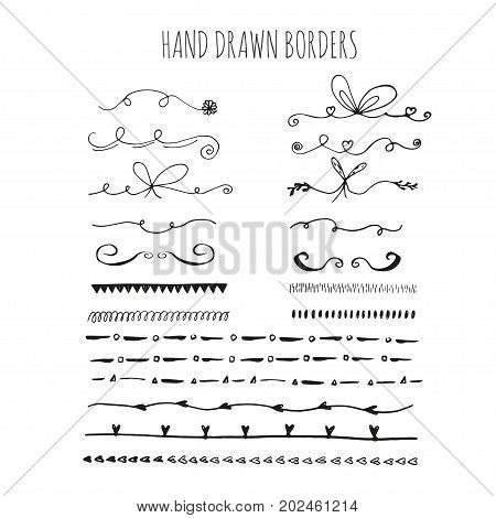 Collection Of Handdrawn Borders