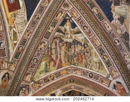 Siena Baptistery - Heaven And Hell