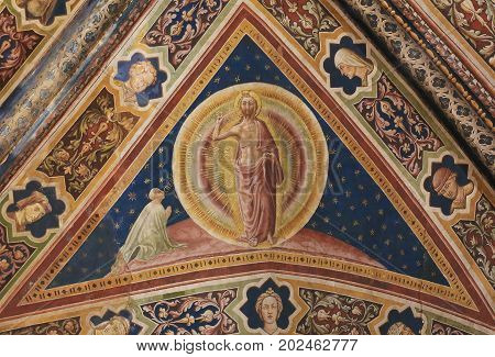 Siena Baptistery - Fresco Of Jesus Christ