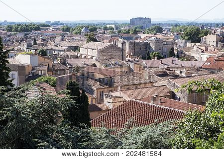 View of Avignon City Skyline, Provence, France