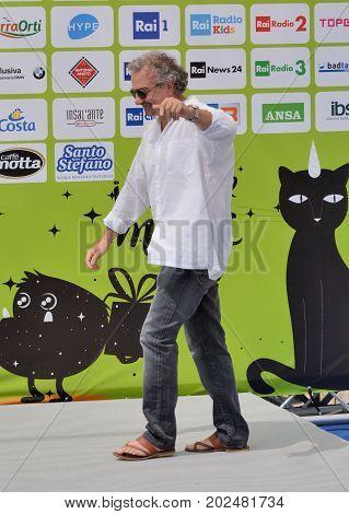 Giffoni Valle Piana Sa Italy - July 19 2017 : Giovanni Veronesi at Giffoni Film Festival 2017 - on July 19 2017 in Giffoni Valle Piana Italy