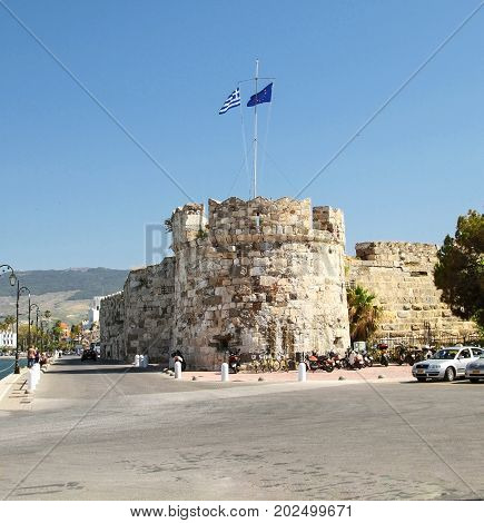 Bastion of fortress of Knights-Hospitaller of