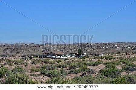 Arizona USA - july 8 2016 : Navajo village near Monument Valley