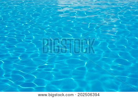 Clear clear water in the pool beautiful