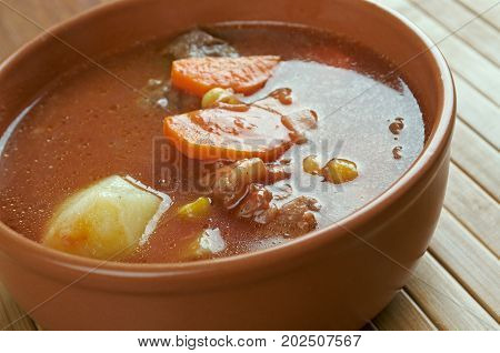 maconochie stew - stew of sliced turnips carrots and potatoes