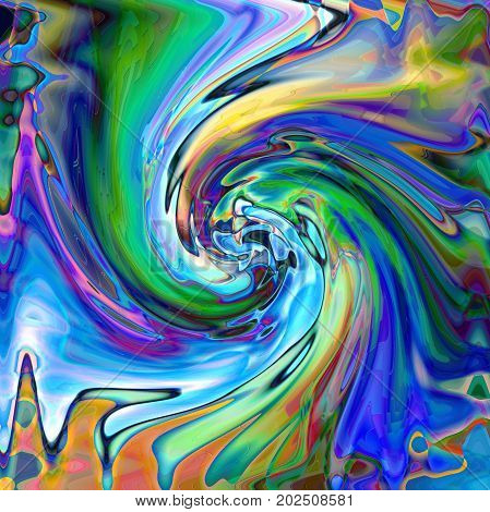 Abstract coloring background of the horizon gradient with visual wave,twirl,lighting and pinch effects