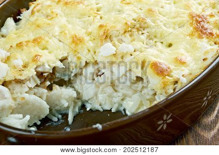 Casserole With Fish And Pasta