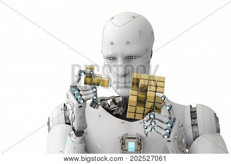 Robot Playing Puzzle