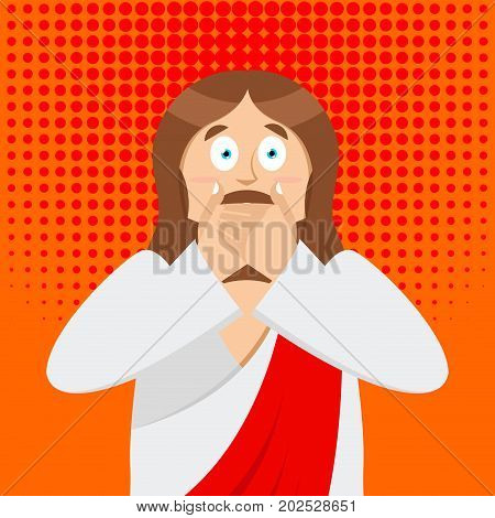 Omg Jesus Is Facepalm Pop Art . Oh My God Christ Is Disappointed. Disappointment Is Son Of God. Illu