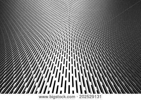 3d rendering metal screen background with abstract curve