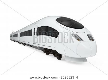 Intercity Train isolated on white background. 3D render
