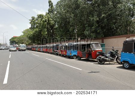 Tuc Tuc in Colombo Sri Lanka, 30. July 2017
