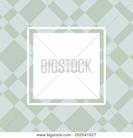 Minimalist Postcard With Classic Background. Frame