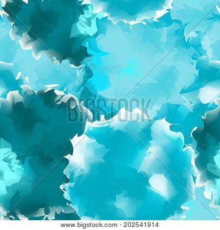 Teal Seamless Watercolor Texture Background. Captivating Abstract Teal Seamless Watercolor Texture P