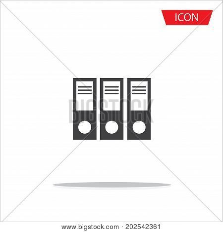 Folder vector icon, folder symbols, file document vector icon, Office Folder Flat Icon On White Background.