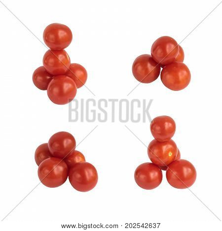 Fresh Cherry Tomatoes Isolated