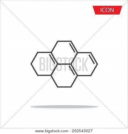 Biochemistry Icon. Flat Design. Isolated Molecule structure,Atom icon vector , atom symbols.