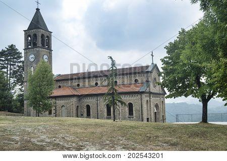 Oltrepo Pavese (Pavia Italy) Nostra SIgnora di Montelungo historic church near Carmine