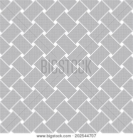 Vector seamless pattern. Abstract small dotted textured background. Modern stylish texture. Regularly repeating geometrical tiles with dots dotted rectangle shapes rhombuses. Contemporary design.