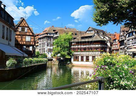 District la Petite France in summer Strasbourg, France
