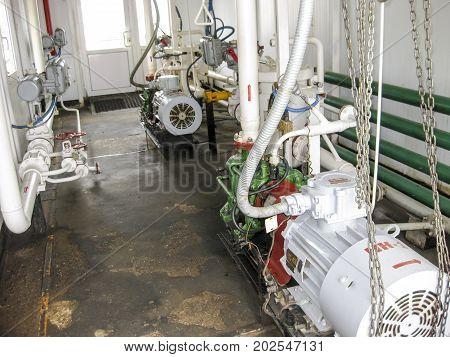 Centrifugal Oil Pump. Pumping Water Treatment Module. Oil Equipment.