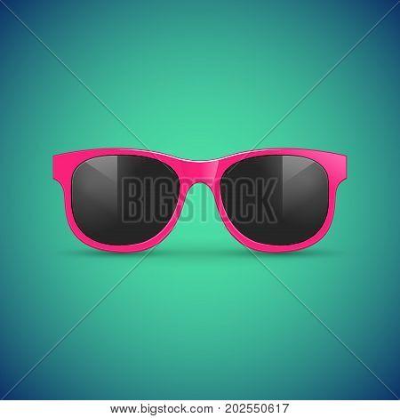 Vector sunglasses. Eyeglasses hipster fashion illustration for summer.