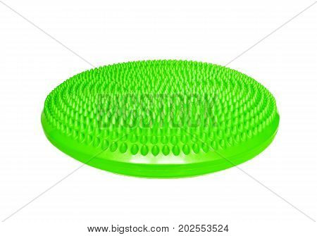 Green balance massage cushion for fitness and recreation