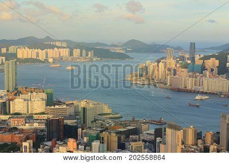 a Kowloon side Hong Kong Skyline 2015