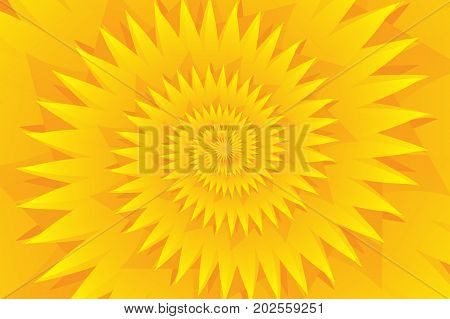Star yellow abstract vector pattern , Concentric star shapes - yellow