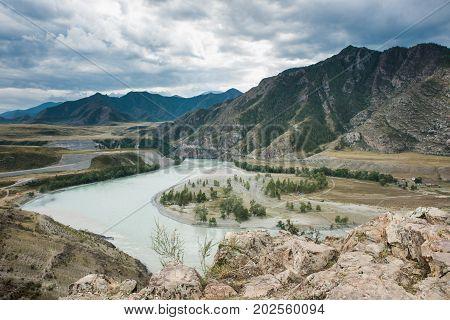 Chuisko-katunskaya valley, Russia, Siberia, Altai Mountains Katun Range