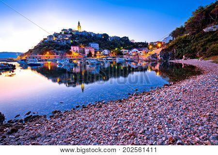 Town Of Vrbnik Harbor View Morning Glow