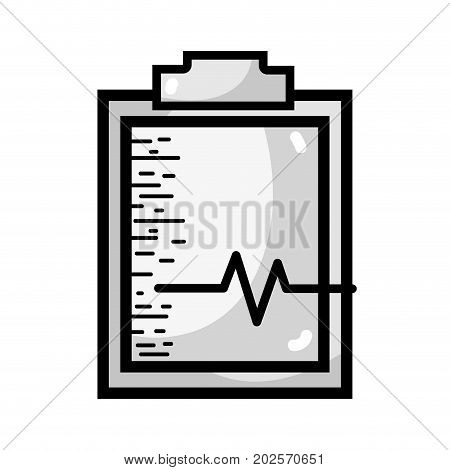 grayscale medical prescription and check list element vector illustration