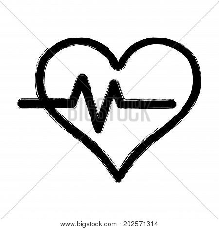 figure heartbeat vital sign to ekg frequency vector illustration