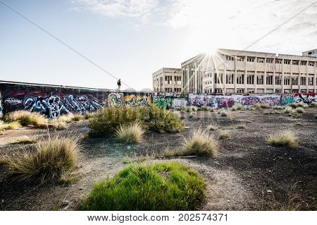 The abandoned power station at South Fremantle in Perth, Western Australia. August 3rd, 2017.